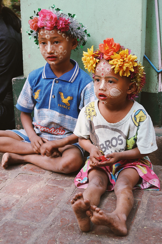 enfants maquillés